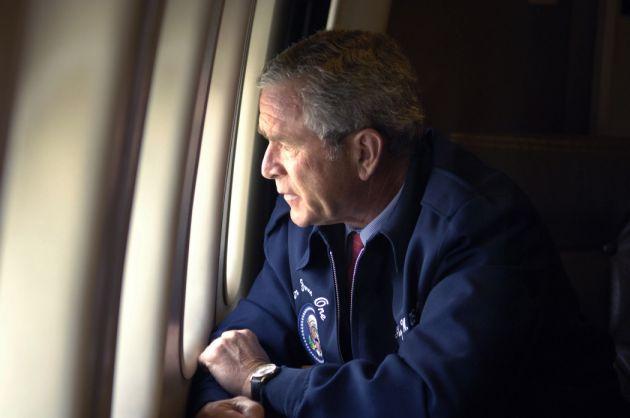 Bush Katrina airforce one