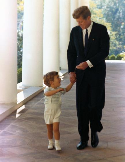 JFK with john john